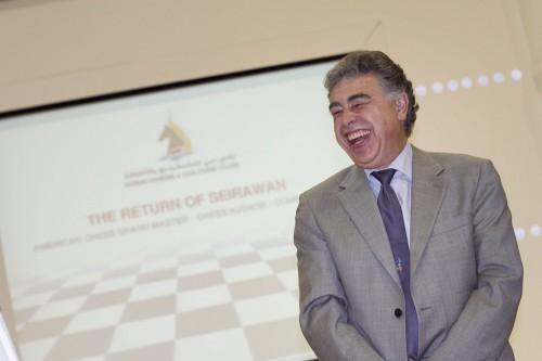GM Yasser Seirawan always in a good mood
