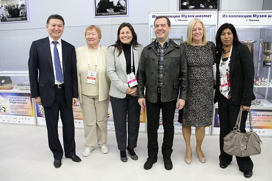 Prime Minister Dmitry Medvedev at FIDE Women's World Championship