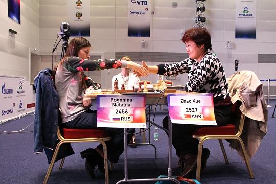 Natalija Pogonina and Zhao Xue