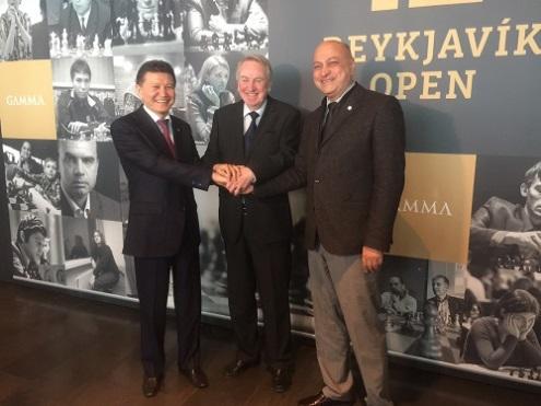 Kirsan Ilyumzhinov, Fridrik Olafsson, Zurab Azmaiparashvili