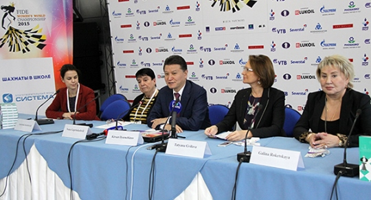 Press conference on the Chess in Schools project