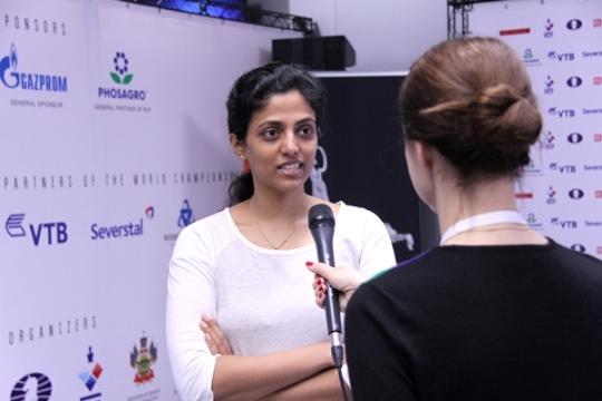 Harika interviewed by FIDE Press Officer