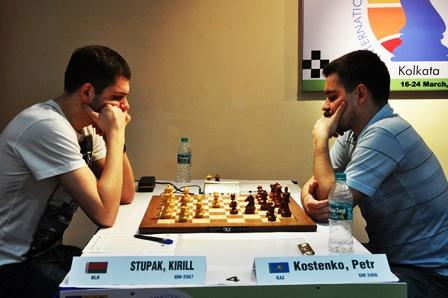 Stupak Kirill of Belarus is also on joint second by beating Kostenko Petr of Kazakhstan