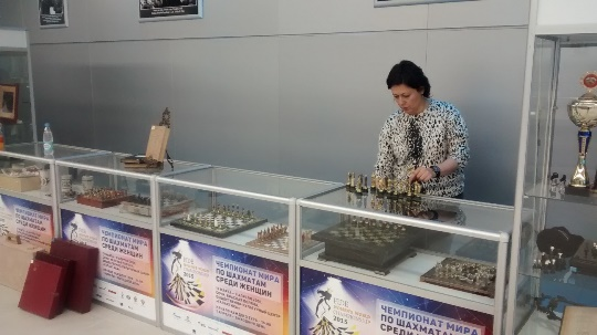The Chess Museum exhibition is being set