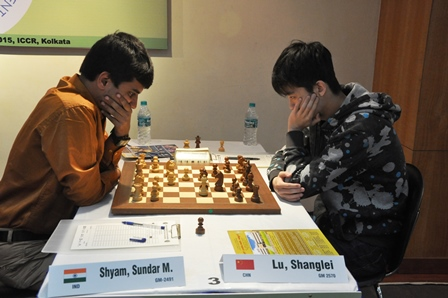 World Junior champion Lu Sanglei of China jumped to second spot with a win over GM M Shyam Sundar