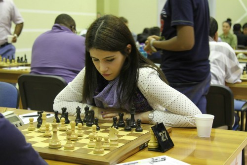 WIM Khayala Abdulla from Azerbaijan drew her game against IM Pascua Haridas from Philippines