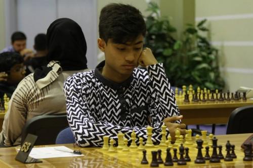 Winner of UAE Championship under 14 years Faisal Ali