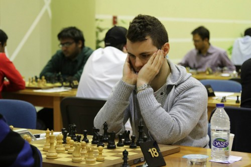 The first Italian player in Dubai Open History, GM Daniele Vocaturo