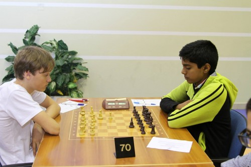 A challenge of the future generation, Berglind Axel (Sweden) in White peaces VS Aswin Sreekumar (India)