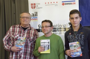 GM Okhotnik (3rd), GM Chatalbashev (the winner), GM Moroni (the runner-up)