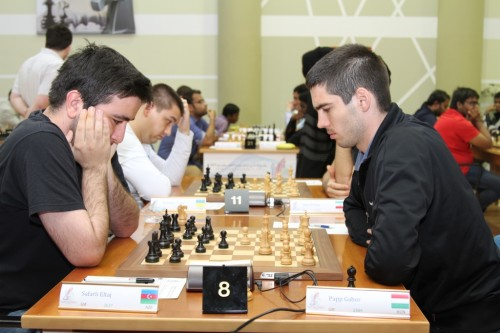 The game between GM Eltaj Safarli and GM Gabor Papp finished in favor of the Azerbaijani player