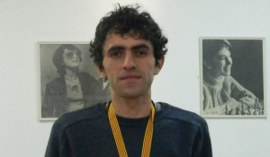 Gaioz Nigalidze as Georgian Chess Champion
