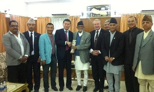 Kirsan Ilyumzhinov and Prime Minister of Nepal Sushil Koirala