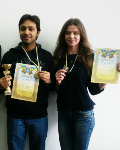 The winner and WFM Nataliya Buksa