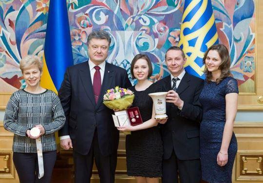President Poroshenko awarded Mariya Muzychuk with Order For Merit