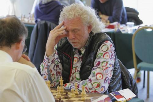 Renato Frick deputises for CM Mario Kobler on Liechtenstein's top board against Guernsey (photo credit: Sam Hamperl)