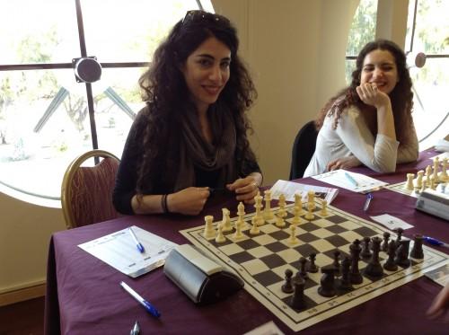 Beautiful Greek chess players