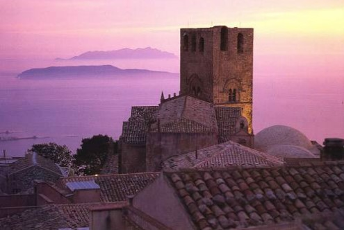 Erice panoramic view
