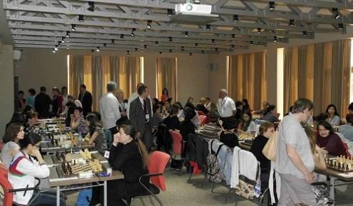 European Individual Women's Chess Championship playing hall