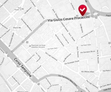 Mappa Via Procaccini (Milano) sede di FDV