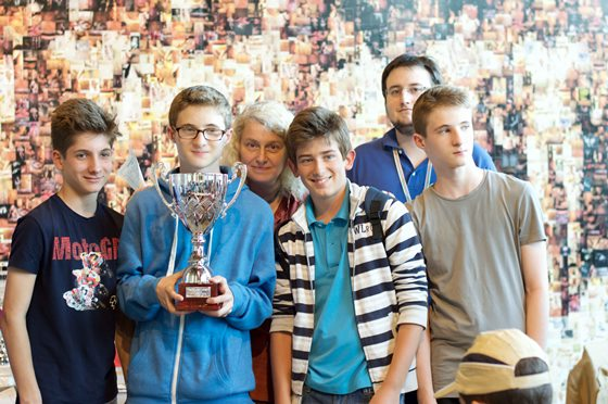 "Young Champions at ""Expo Chess"" in Milan, Italy"