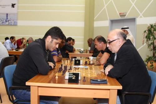 Azerbaijani duel GM Elmar Magerramov (White) vs. GM Ulvi Bajerani (Black)
