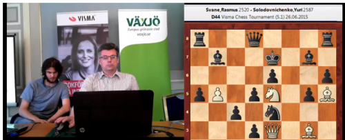 Videostreaming from the commentary room with GM Stellan Brynell (and guest GM Nils Grandelius)