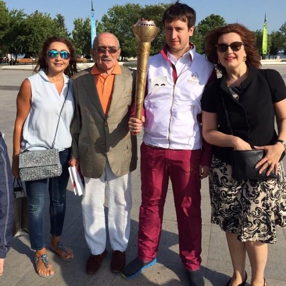 Teimour Radjabov torchbearer for the 1st European Games