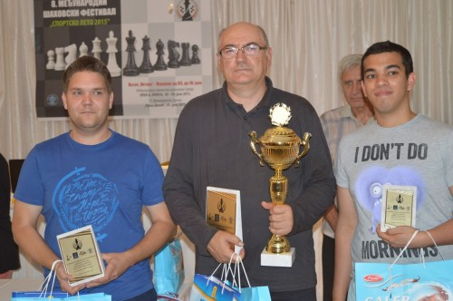 GM Sedlak, GM Damljanovic and IM Fernandez (from left to right)