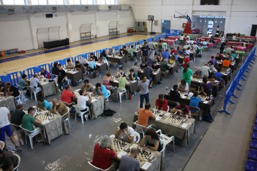 View of the playing venue of the 38th Ikaros International Chess Tournament 2015