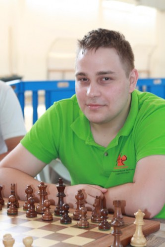 Tournament leader GM Peter Prohaszka
