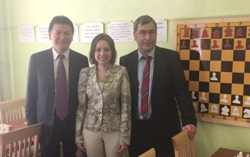 Kirsan Ilyumzhinov, Mariya Muzychuk and Vassily Ivanchuk