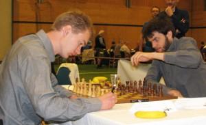 The runner-up Emanuel Berg versus the 2015 Swedish champion Nils Grandelius