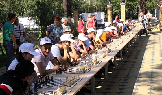 Children's Day at Russian Chess Championship Superfinal in Chita
