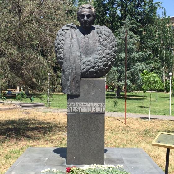 Monument dedicated to World Champion Grandmaster Tigran Petrosian