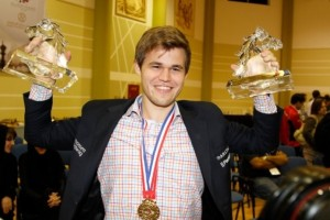 Carlsen successfully defends his rapid chess title