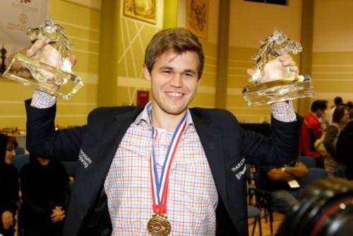 Carlsen is the reigning World champion in rapid and blitz