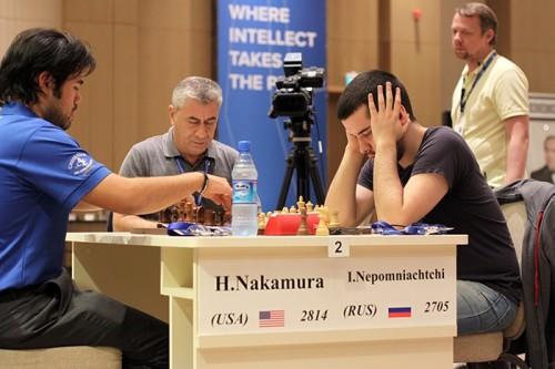 Hikaru Nakamura and Ian Nepomniachtchi reached Armageddon
