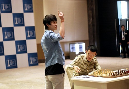 Lu Shanglei held Veselin Topalov and the match will be decided in tie-break