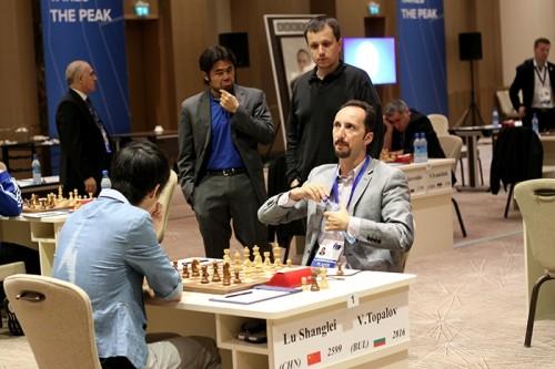Lu Shanglei held Veselin Topalov to a draw
