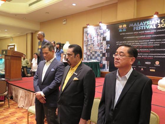 Malaysian Chess Festival - VIPs