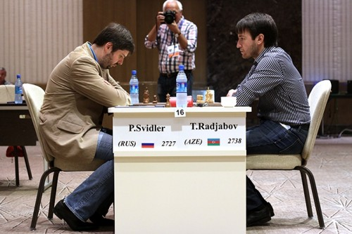 Peter Svidler and Teimour Radjabov split the point