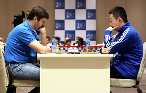 Peter Svidler and Wei Yi drew the game