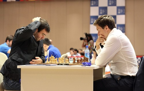 Shakhriyar Mamedyarov could not break the defences of Sergey Karjakin