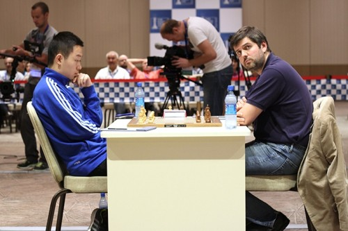 Wei Yi and Peter Svidler tied the classical match