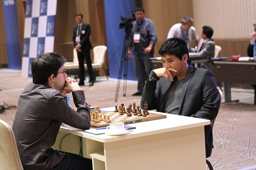 Wesley So held Maxime Vachier-Lagrave with black pieces