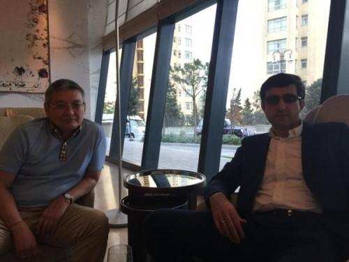 Berik Balgabaev with Vladimir Kramnik