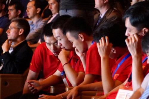 The Chinese delegation at the opening ceremony