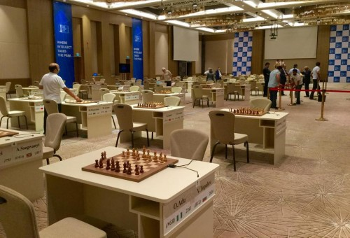 Playing hall of the World Cup in Baku