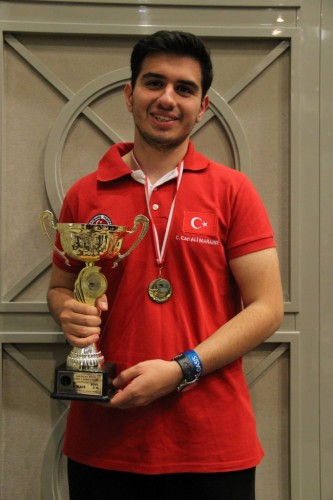 A year later in Bulgaria he won the Championship U14, and in 2014 again in Batumi he won gold in category U16